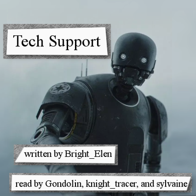cover of Tech Support, showing K-2SO staring at the viewer.